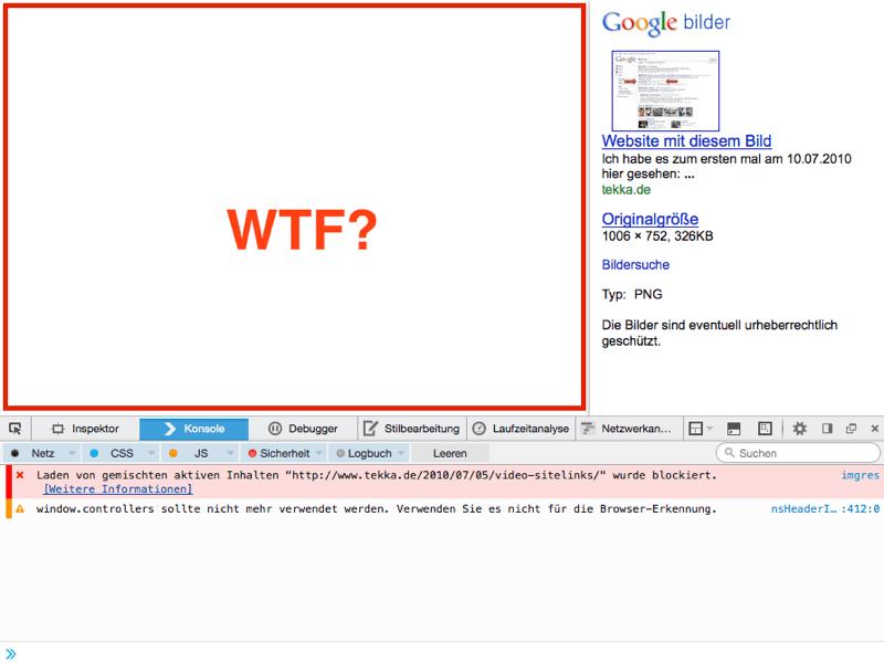 Google Bildersuche - so sieht's jetzt aus
