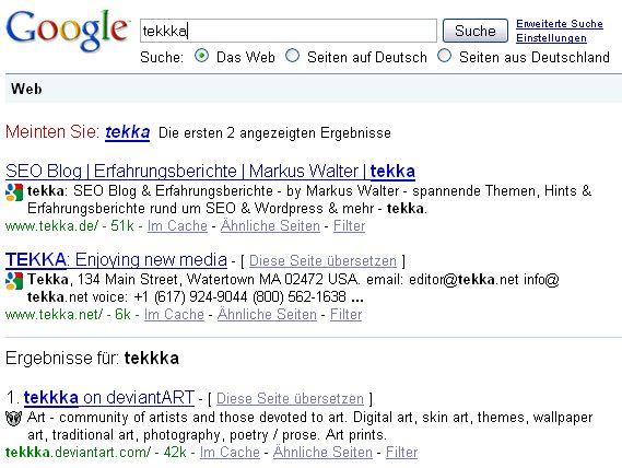 """""""Meinten Sie"""" bei Google"""