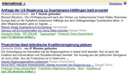 Google News Deutschland (Frontpage)