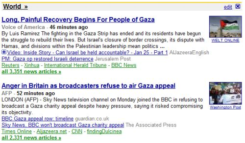 Google News USA (Frontpage)