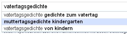 Google Suggest neu