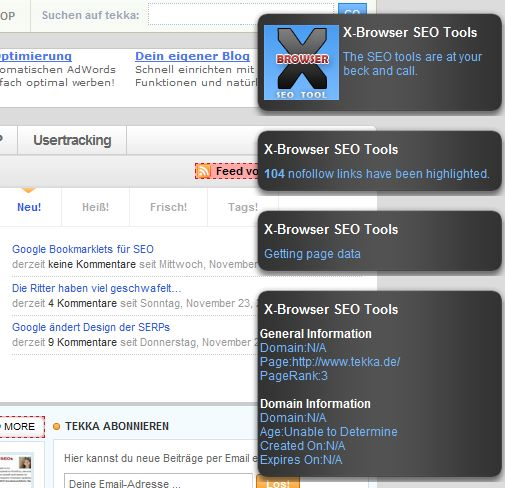 SEO Bookmarklets: X-Browser