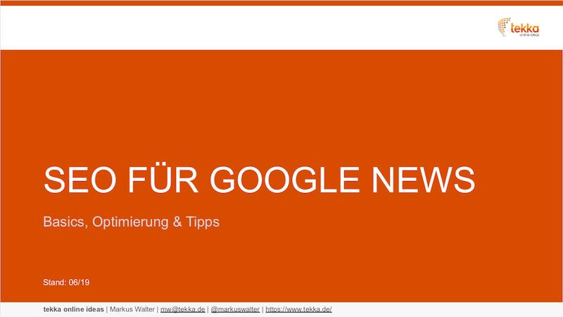 SEO für Google News