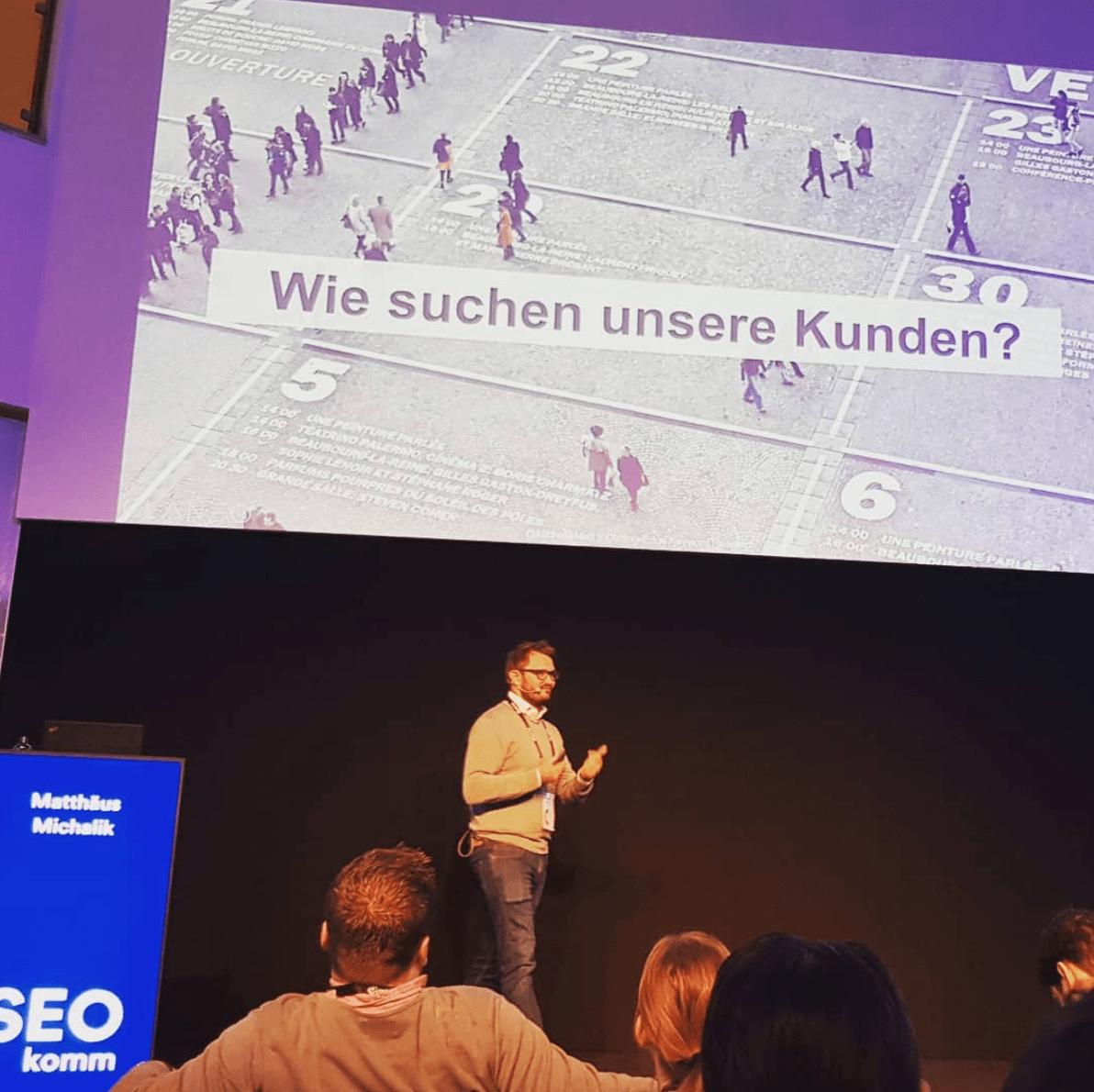Matthäus Michalik auf der SEOkomm 2018