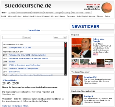 Sueddeutsche Newsticker