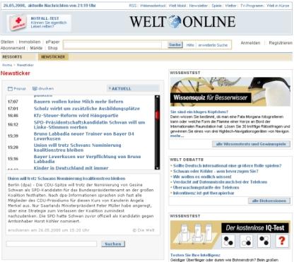 Welt Newsticker
